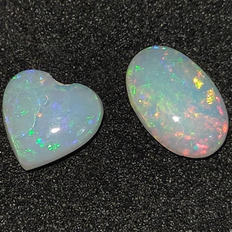 1.0 cts Pedra Lapidada Forma coração e oval
