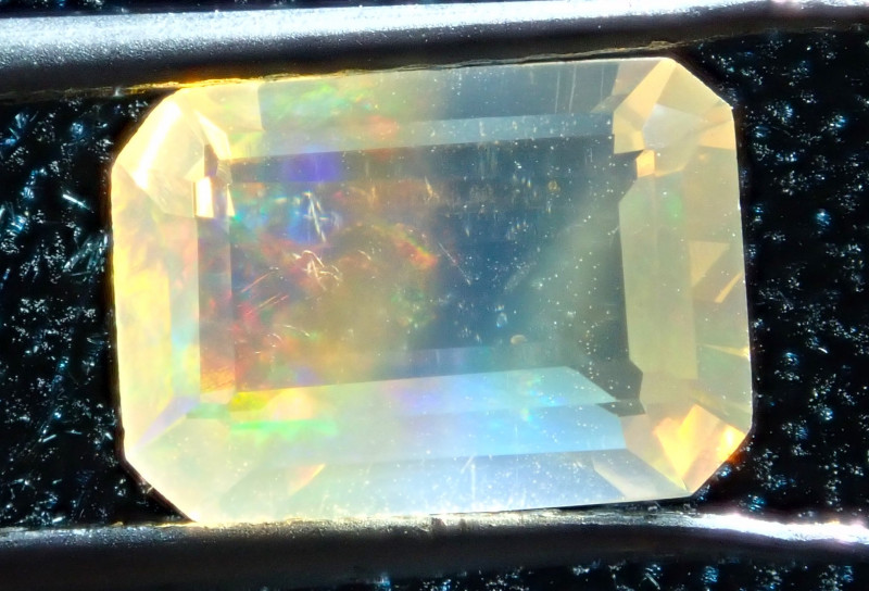 0.98ct Facetted Fire Opal Contraluz