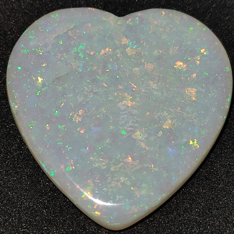 18.5 cts opala lapidada forma coração