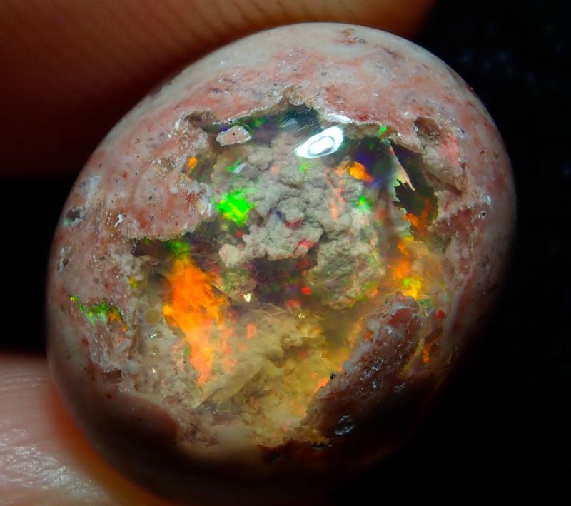 7.08ct Mexican Matrix Cantera Multicoloured Fire Opal