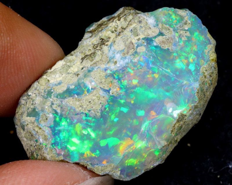 26cts Natural Ethiopian Welo Rough Opal / WR6359