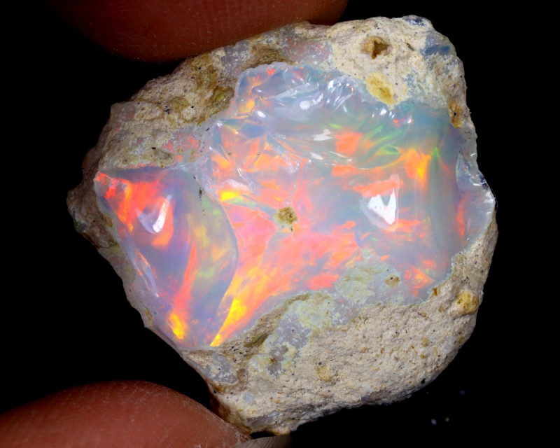 21cts Natural Ethiopian Welo Rough Opal / WR6368