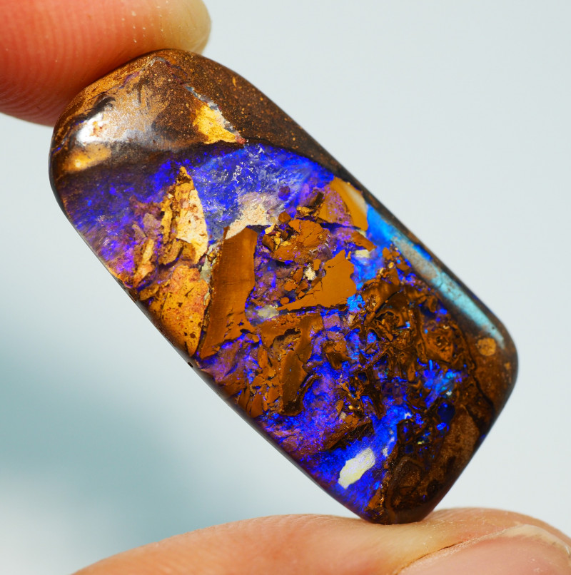 17.95CT AMAZING WOOD REPLACEMENT BOULDER OPAL AA325