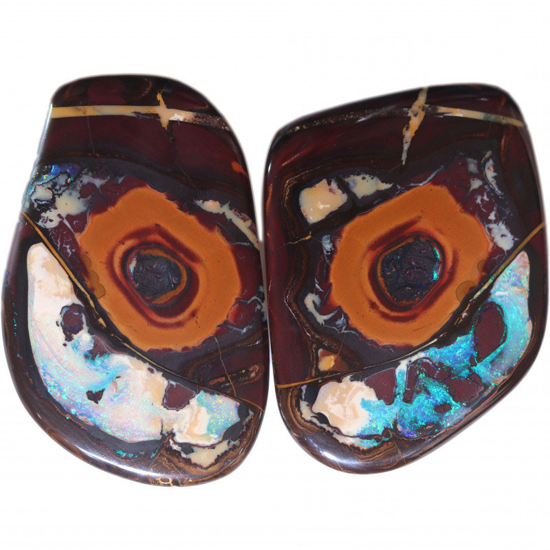 1009.20 CTS  LARGE WELL POLISHED PAIR YOWAH STONES [BMB835]