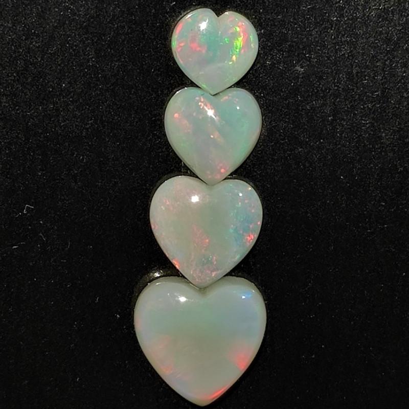 2.79 cts opala lapidada forma coração