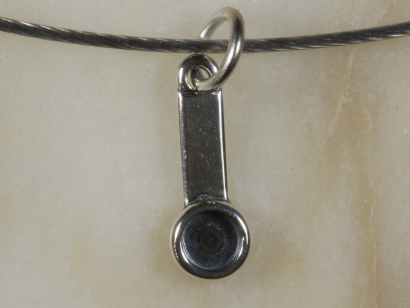 18 Inch Stainless cable with 925 Sterling  Pendant [31114] 53FROGS