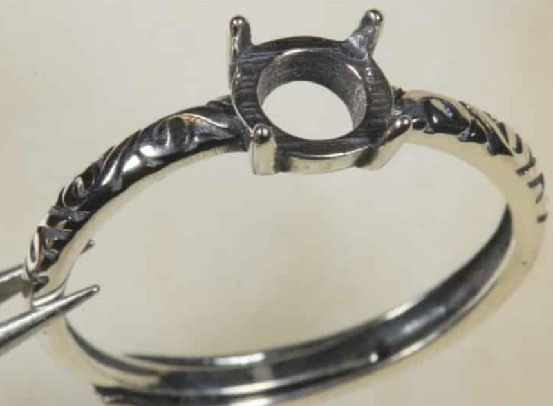 Ring Setting 6mm Round  [31350]