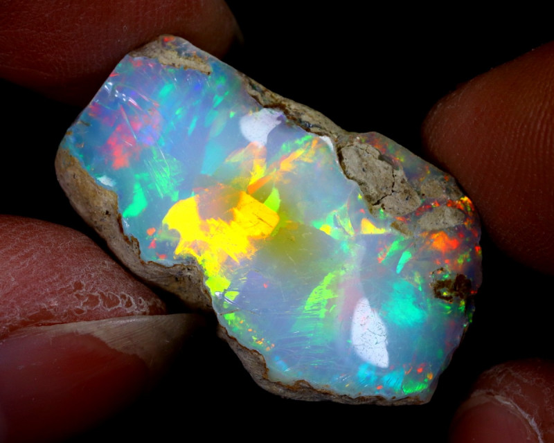 21cts Natural Ethiopian Welo Rough Opal / NY1149