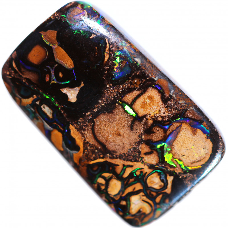 51.30 CTS TREATED BOULDER OPAL FROM KOROIT [BMB869]