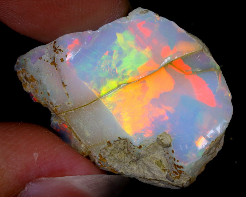 17cts Natural Ethiopian Welo Rough Opal / WR6591