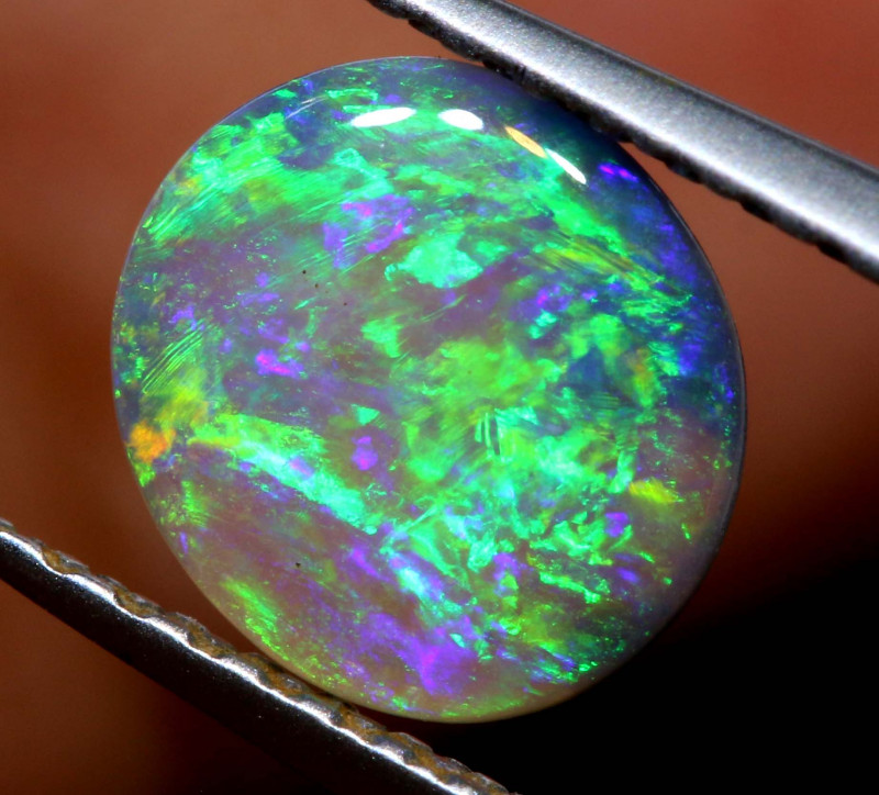 N6-  0.40 CTS  DARK  OPAL POLISHED STONE L. RIDGE  TBO-A2650