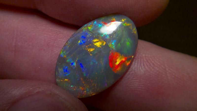 5.23cts Top Gem Lighting Ridge Black opal Collection CYC725
