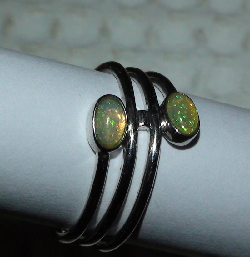 Opal Ring Sz 6 Woman's 925 Sterling Silver
