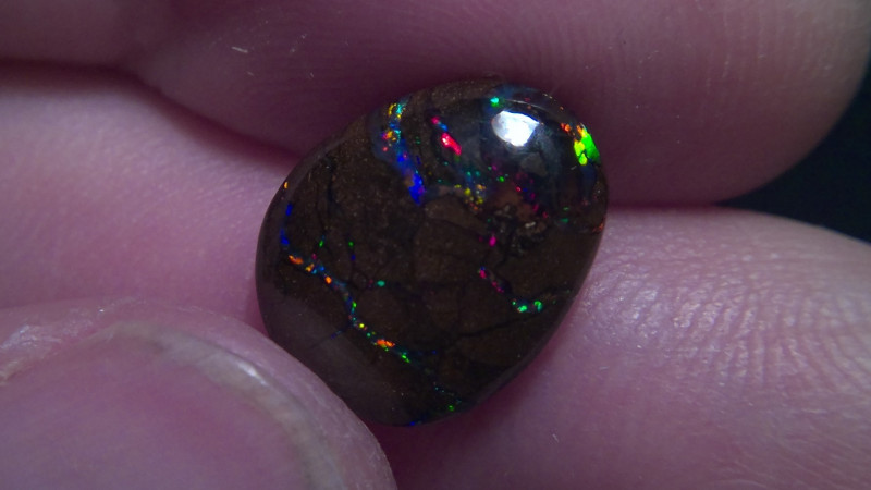 6 cts Koroit boulder opal with multiple electric fire