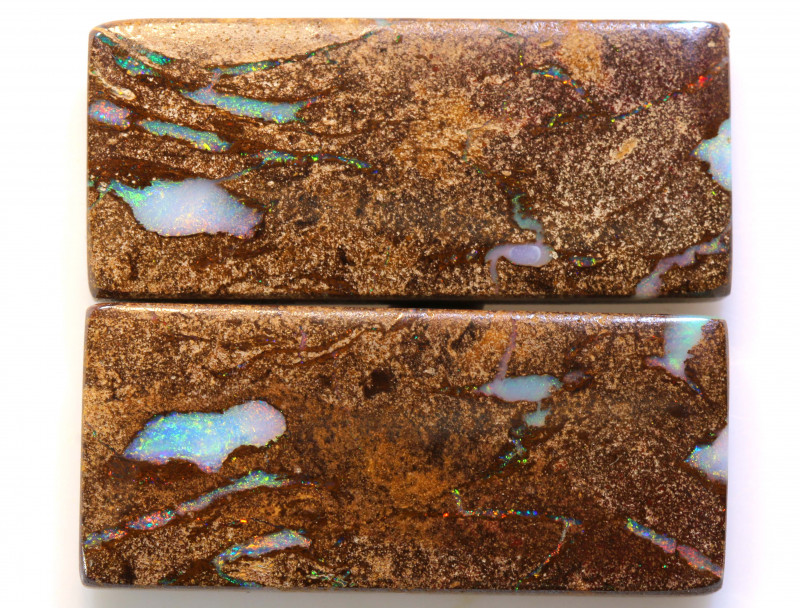 41.8 CTS   WOOD FOSSIL OPAL PAIR  NC-9224